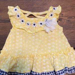 Little Lass Matching Sets - Little Lass Yellow Plaid Baby outfit
